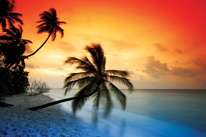 LP-704-Maldives-Beach-At-Sunset-Maxi-Poster-91