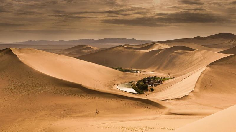 Fascinating ancient oasis in China's desert Gobi (2)