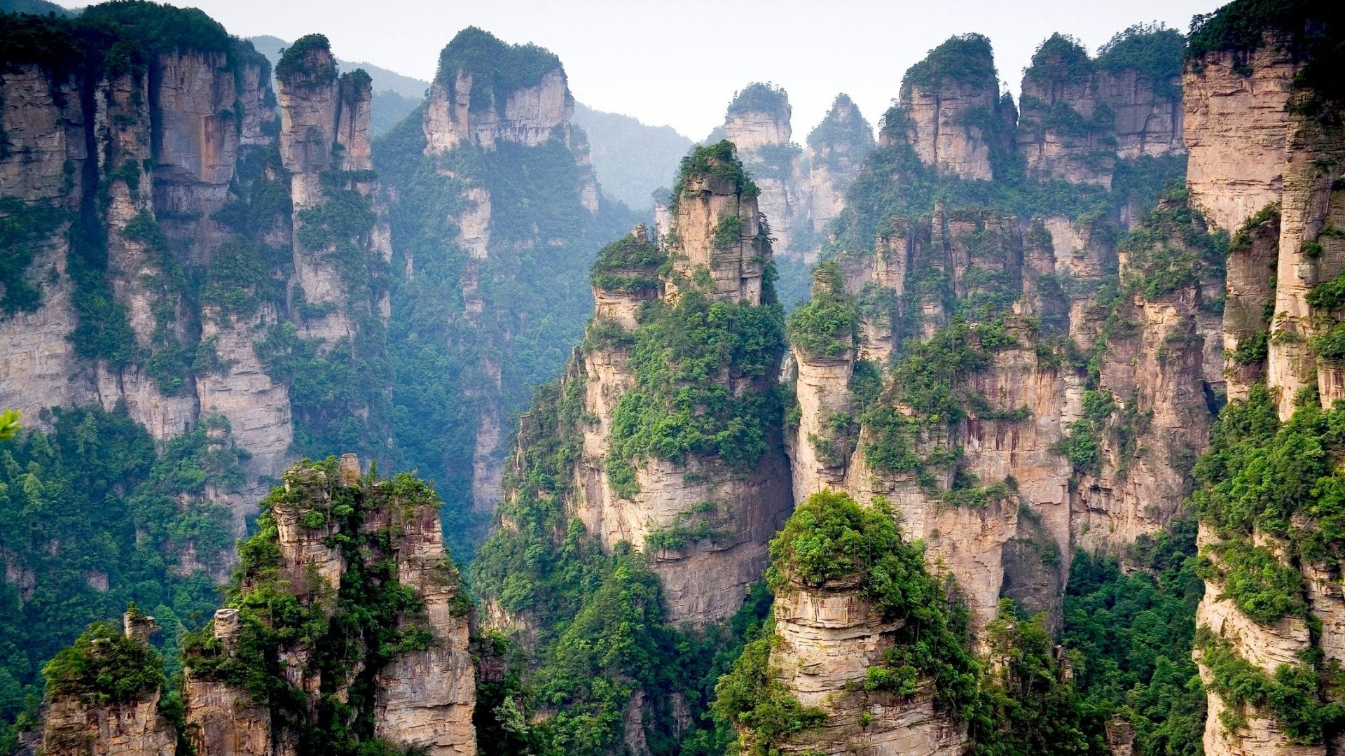 1 Tianzi Mountains in China