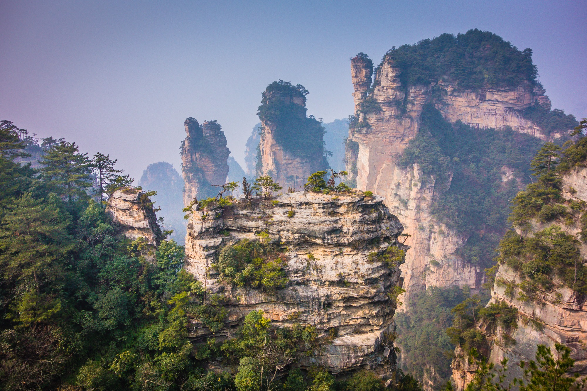 2 Tianzi Mountains in China