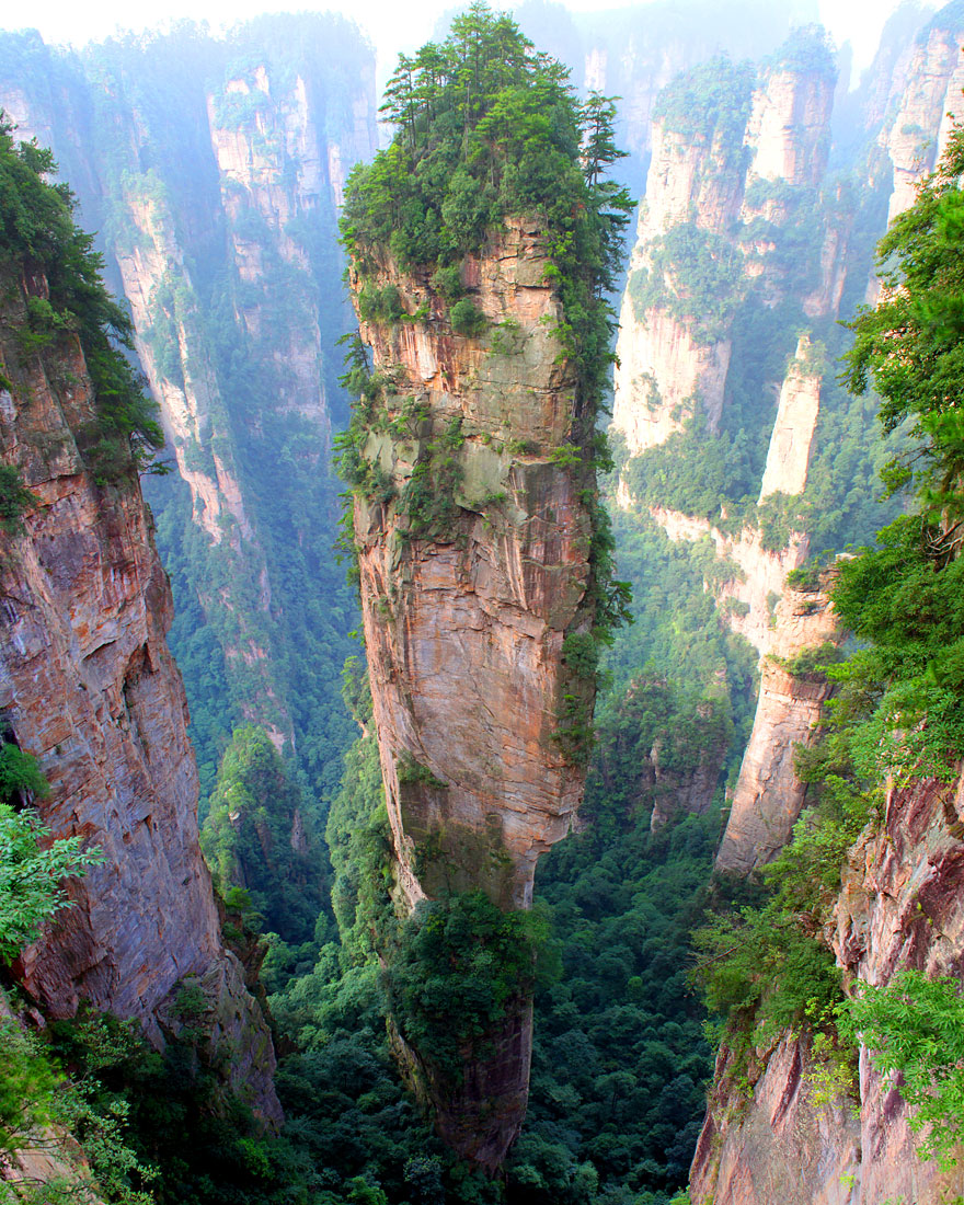 4 Tianzi Mountains in China
