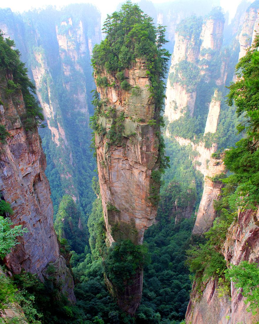 4 Tianzi Mountains in China