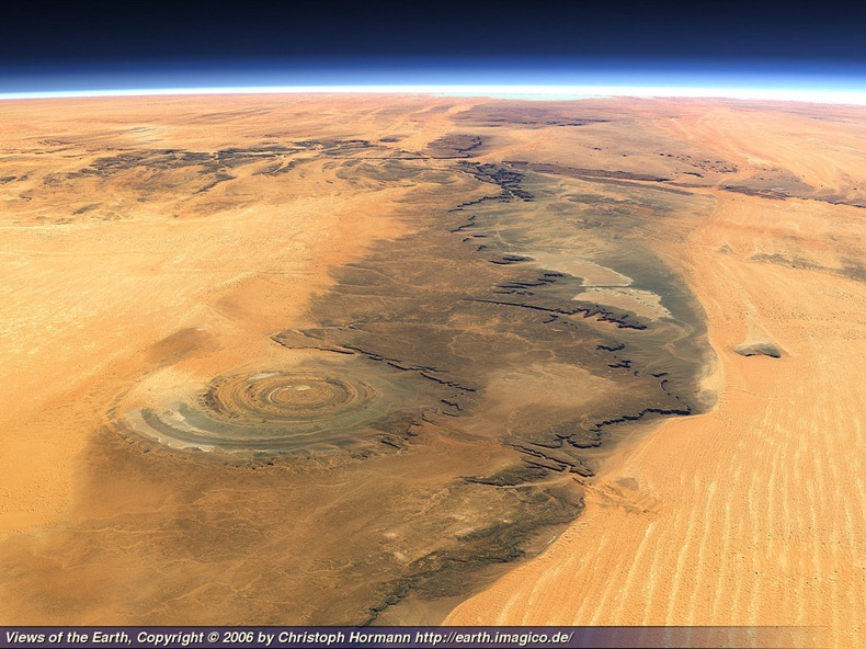 5 Eye of Sahara ,Africa