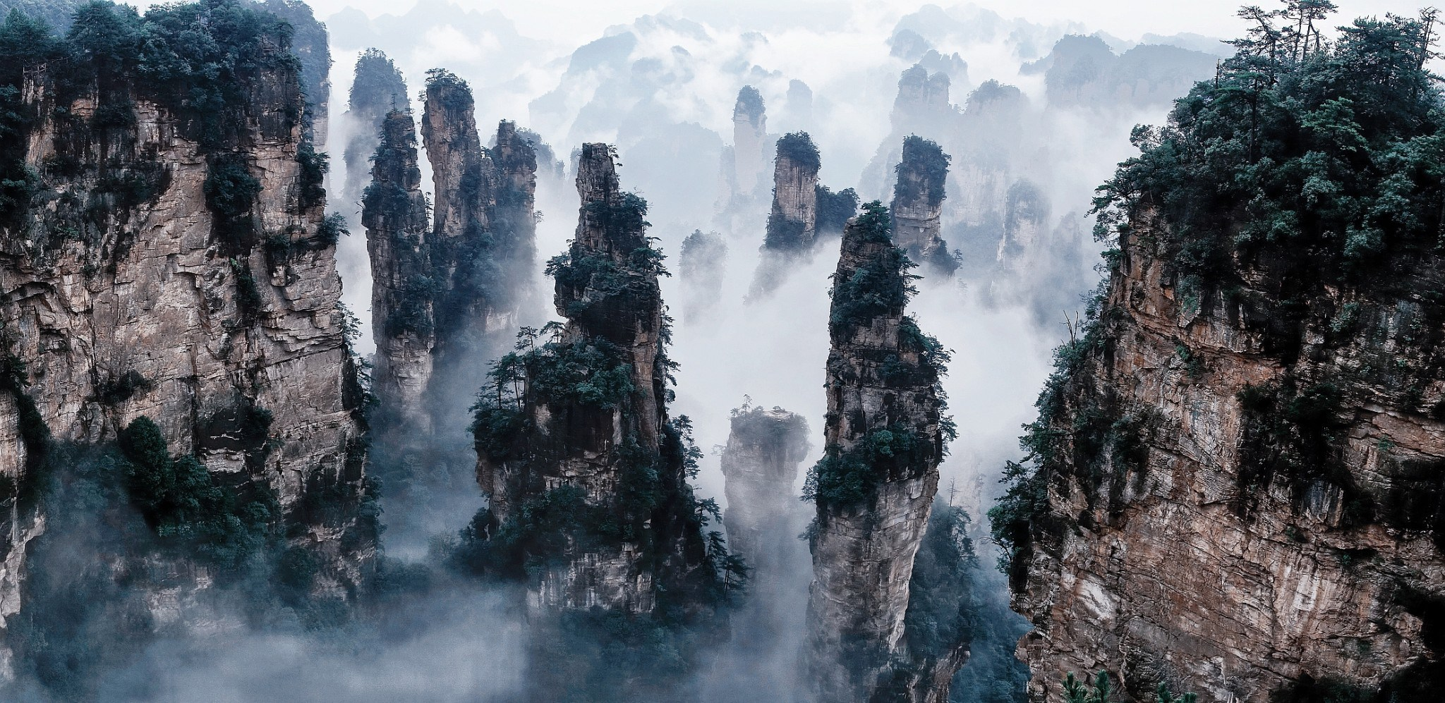 5 Tianzi Mountains in China