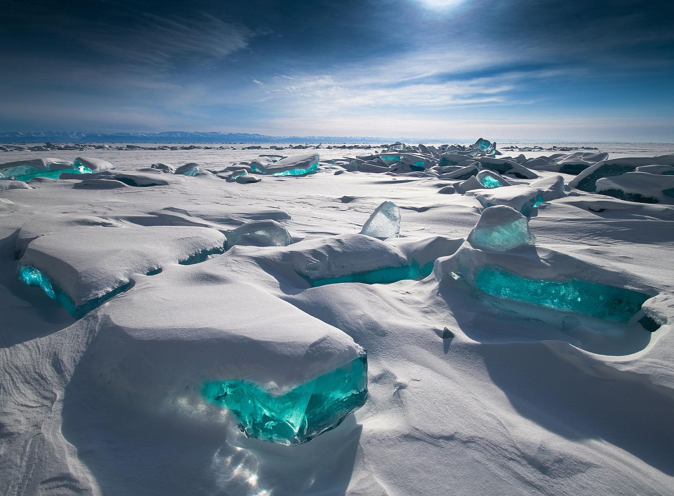 6 Turquoise Ice Lake Baikal