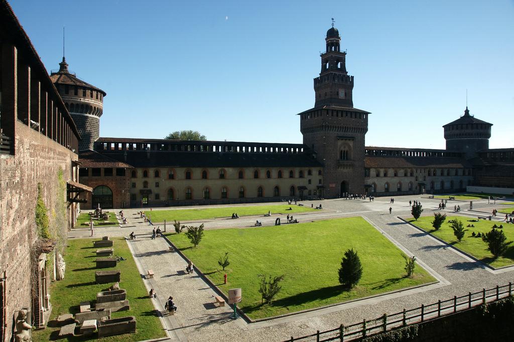 Sforza Castle from inside, Milan