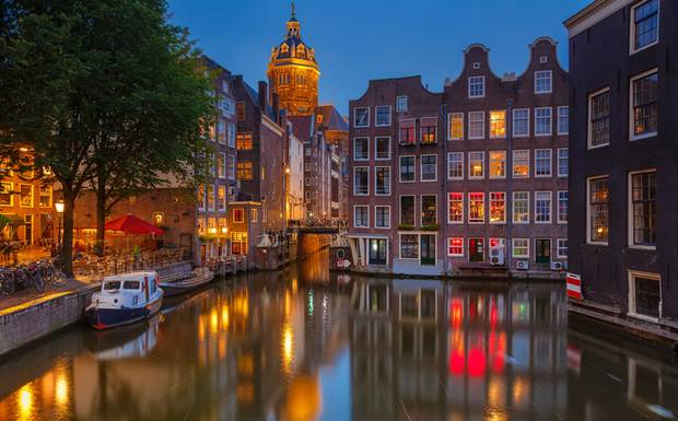 Amsterdam by Jordaan river