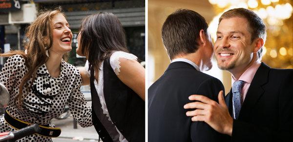 France social kissing