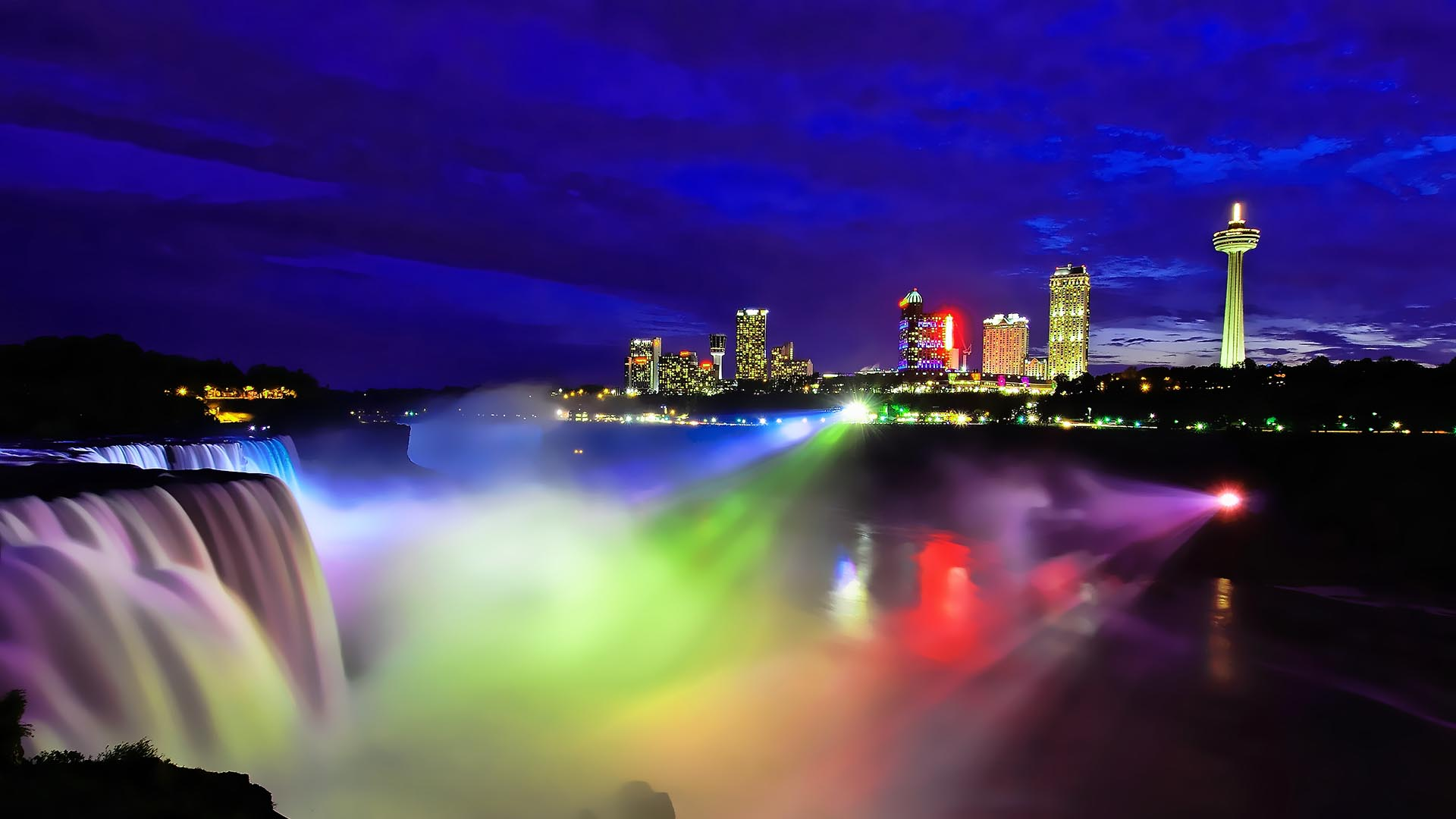 Niagara Falls At Nightt