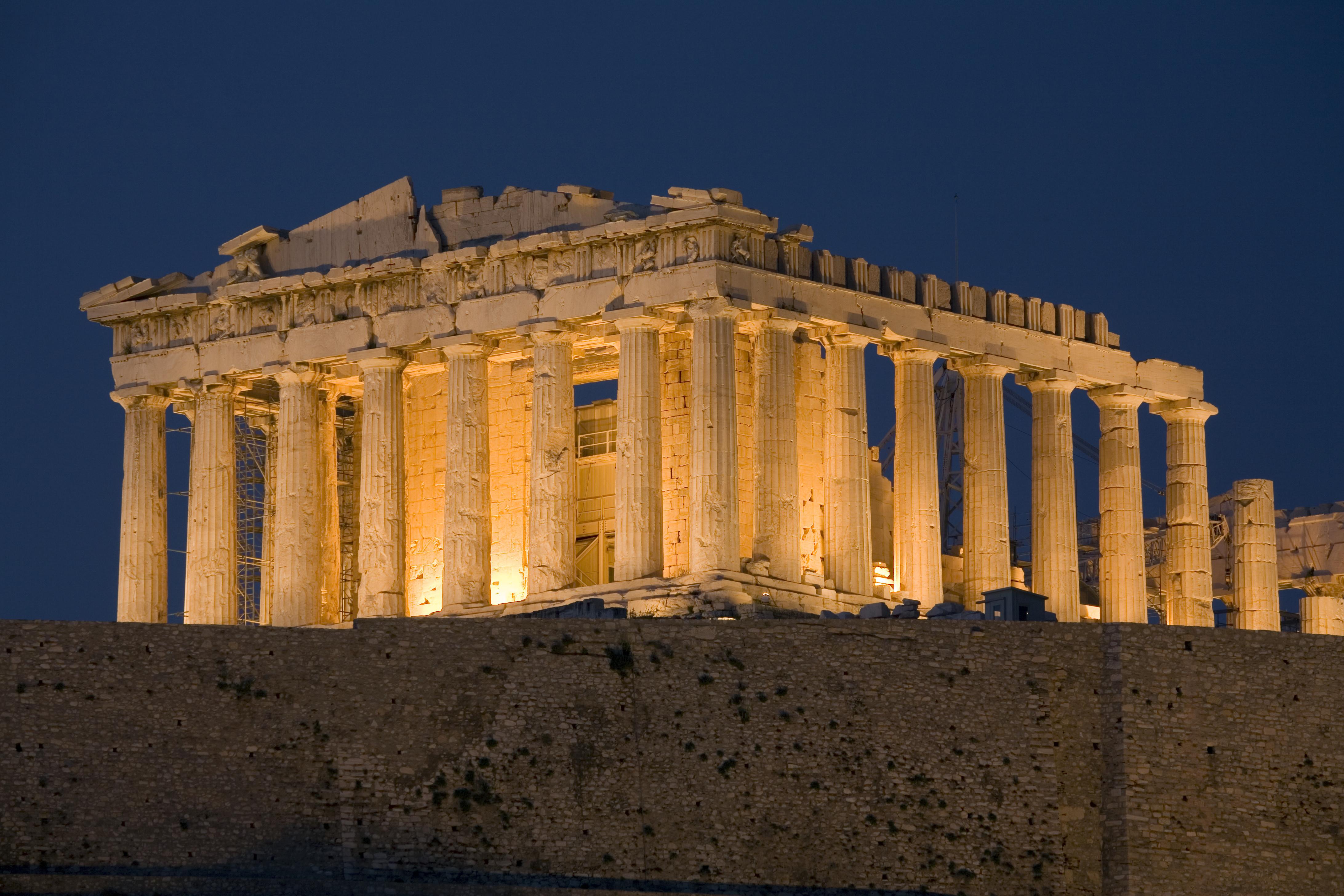 The Parthenon at Dusk